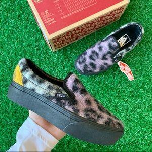 Vans Classic Slip On Platform Mix Leopard